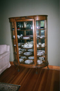 Antique Bowfront China Cabinet