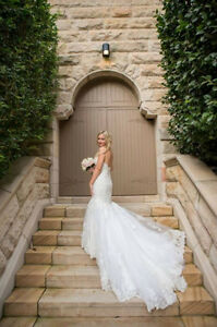 REDUCED!   Maggie Sottero Lace Wedding Gown - $550