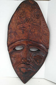 NEW PRICE Beautiful Carved African Mask Large solid Wood West Island Greater Montréal image 1