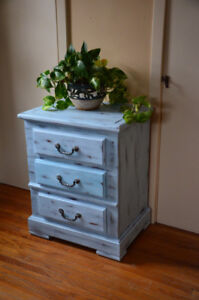 Beautifully Redone 3-Drawer Side Table/Small Dresser