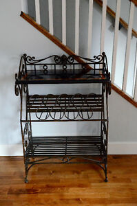 Wrought iron bar with marble top