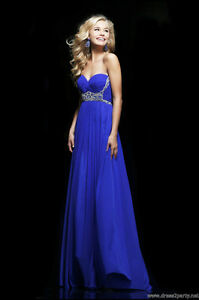 Royal Blue Sherri Hill Prom Dress