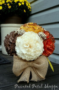 Fall Coffee Filter Arrangement/Thanksgiving/Fall Wedding Flowers Belleville Belleville Area image 3