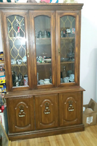 Lots of collectibles for sale and hutch
