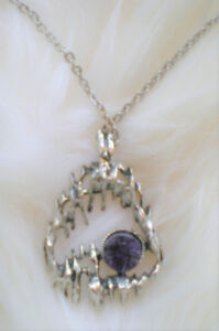 Collier avec pierre Améthyste / Necklace with AMETHYST Stone