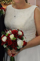 Wedding gown size 12 for sale