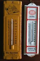 Vintage Tin Advertising Thermometers