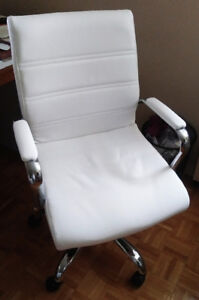 Stylish, white office chair