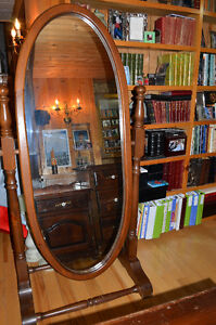 Custom made Mirror on solid wood Frame and Stand