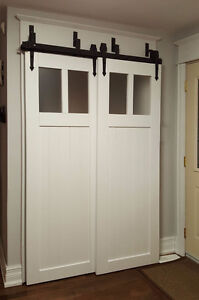 Save space with sliding barn door hardware - soft closing