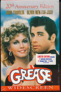 Grease 20th Anniversary Edition-VHS-New-Interviews-Script-CD Rom