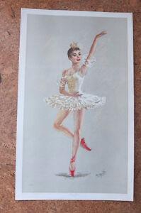 Lithographies ballerine signé Monté (1950) West Island Greater Montréal image 4