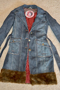 Ladies Denim Coat with Faux Fur Trim Edmonton Edmonton Area image 4