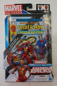 Marvels Greatest Battles Comic Packs Spider-Man Captain Britain