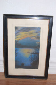 Two Pastel Pictures by J I Benedict