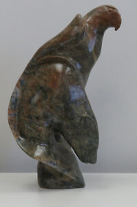 Soapstone Sculpture - Bear-Eagle Abstract by Anthony Antoine