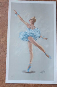 Lithographies ballerine signé Monté (1950) (30$)