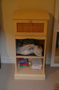Gorgeous Wicker front and Cream colour solid wood night stand Kitchener / Waterloo Kitchener Area image 1
