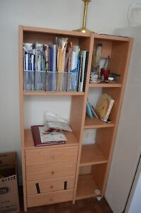 MOVING SALE! Everything must go! Shelves, book cases, tricycle..