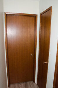 Mahogany doors with trim (various sizes)