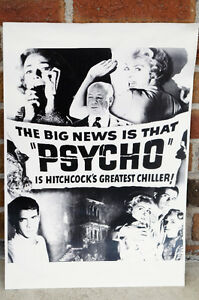 AFFICHE PSYCHO HITCHCOCK'S