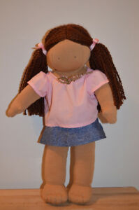 "Pottery Barn Kids 16"" Cloth Doll Waldorf Style"