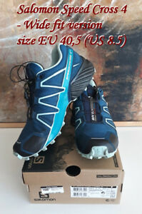 Salomon Speed Cross 4 wide fit, size 8,5
