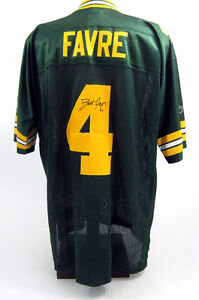 Signed Brett Favre Jersey Autographed Green Bay Packers NFL NWT