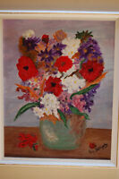 Oil Painting by Local Artist (Flowers in Vase)