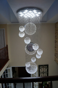NEW BEAUTIFUL CRYSTAL CHANDELIER , ELEGANT STYLE
