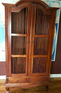 Tropical Teak inspired Indonesian armoire/tv cabinet $300