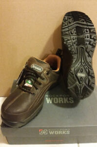 NEW Rockport Works Casual Leather Safety Shoes Mens 8 CSA toe