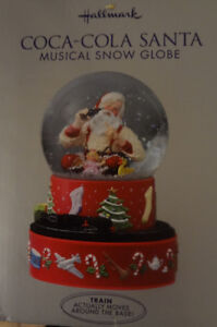 Coca Cola Musical Water Globe with box