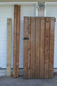 1 gate, 2 posts, and 16 boards for fence