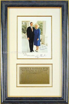 George H W  Bush   Inscribed Photograph Signed Circa 1982 With Co Signers