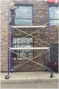 "10' Scaffold Tower with 5' x 5' Frames & 7' x 19"" Platform"