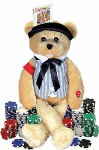 Musical Teddy Bear, The Gambler, Chantilly Lane, Stuffed Bear