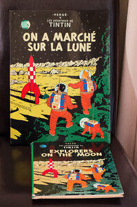 Cadre laqué Tintin et BD Explorers on the Moon