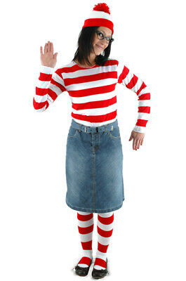 Where's Waldo Wenda Adult Halloween Costume (L/XL) - Waldo Halloween
