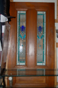 Porte Vitraux Ancestrale Stained Glass Door
