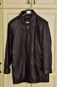 LEATHER JACKET by COLDWATER CREEK