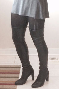 Stuart Weitzman OVER THE KNEE BOOTS STEAL Highland Nappa Leather