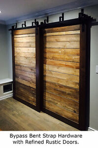 Soft close barn door hardware, from $150