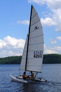 Hobie Cat 16 with customized trailer