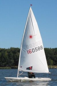 Laser Sailboat (1988) - Clean and Dry Hull