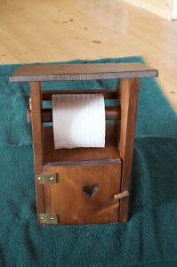 """Rustic Toilet Paper """"Outhouse"""" - handmade"""