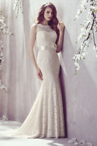 Gorgeous Mikaella Chantilly Lace Wedding Gown by Paloma Blanca