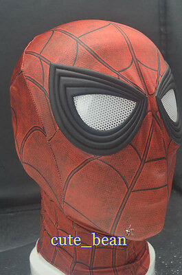 US SHIP Spider-Man:Homecoming 3D Eyes Mask Cosplay Prop Halloween Lycra - Halloween Spider Mask