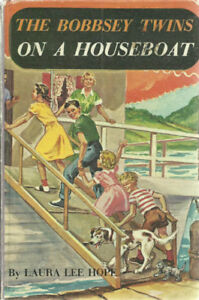 1955 Illustrated - HC - The Bobbsey Twins On A Houseboat  Laura