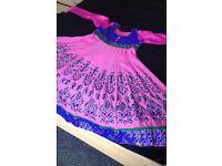 Large Asian Indian Pakistani churidar shalwar kameez outfit dress suit for wedding mehndi walima
